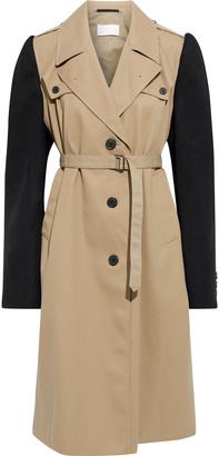 Maison Margiela Wool Twill-paneled Gabardine Trench Coat