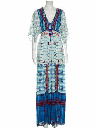 Hemanta & Nandita Tie-Dye Print Long Dress Blue