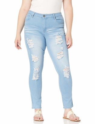 Cover Girl Cute Mid Rise Waisted Ripped Torn Skinny Juniors