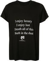Julius 'enjoy' print T-shirt - men - Cotton/Modal - 2