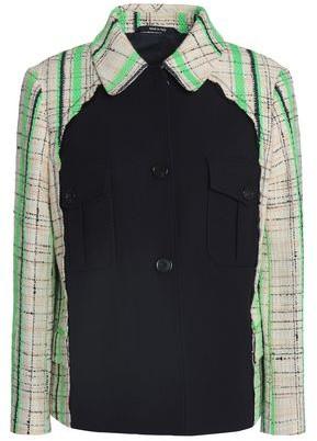 Maison Margiela Twill-paneled Cotton-blend Boucle-tweed Blazer
