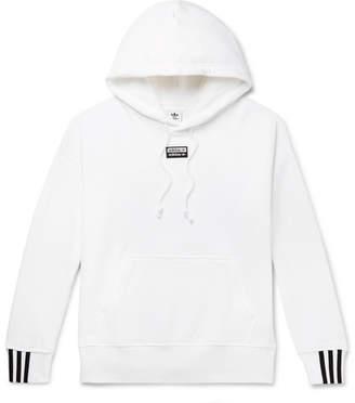 adidas Logo-Appliqued Fleece-Back Cotton-Jersey Hoodie