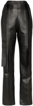MATÉRIEL high-waisted slit trousers
