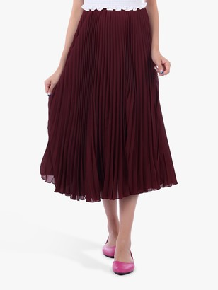 Jolie Moi Pleated Full Circle Midi Skirt