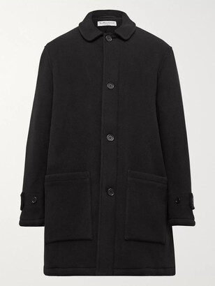 YMC Factory Padded Garment-dyed Wool-blend Coat - Black