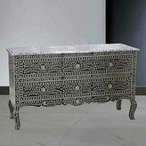 Antique Rustic Mother of Pearl Floral Handmade Sideboard Inlay Designers Furniture