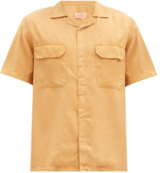 Saturdays NYC Gibson Flap-pocket Tencel Shirt - Orange