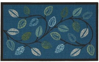 "Waverly Fancy and Free Floral Blue Area Rug Rug Size: Rectangle 1'6"" x 2'6"""