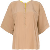Givenchy - flared button blouse