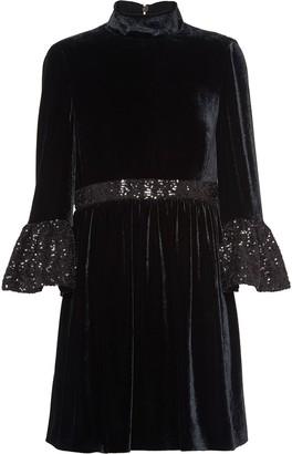 Miu Miu velvet sequinned dress