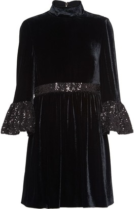 Miu Miu Velvet Sequinned Dress
