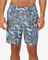 "Nautica Men's Tropical-Print 7 1/2"" Swim Trunks"