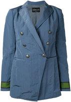 Emporio Armani double breasted blazer - women - Cotton/Polyamide/Polyester/Viscose - 46