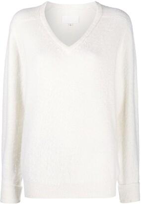 Maison Margiela V-neck knitted jumper