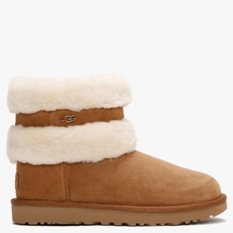 UGG Fluff Mini Belted Chestnut & Natural Twinface Boots