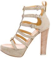 Giuseppe Zanotti Suede Platform Multistrap Sandals