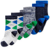 First Impressions 3-Pk. Argyle Crew Socks, Baby Boys (0-24 months), Only at Macy's