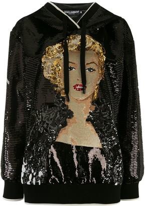 Dolce & Gabbana Marilyn Monroe sequin hoodie