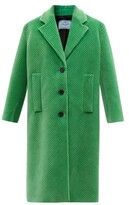 Thumbnail for your product : Prada Single-breasted Cotton-blend Corduroy Coat - Green