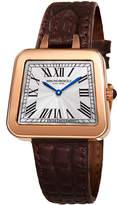 Bruno Magli 34mm Emma Trapezoid Watch w/ Brown Strap