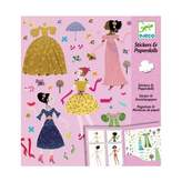 Djeco 4 seasons dress - Stickers and paper dolls