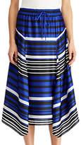 Lauren Ralph Lauren Hiroya Stripe Satin Drawstring Skirt, Multi