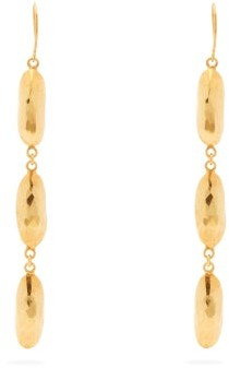 Pippa Small Turquoise Mountain - Naheed 18kt Gold-vermeil Drop Earrings - Womens - Gold