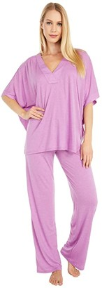 N by Natori Congo PJ Set (Heather Twilight) Women's Pajama Sets