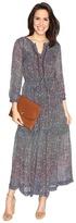 Lucky Brand Ditsy Maxi Dress Women's Dress