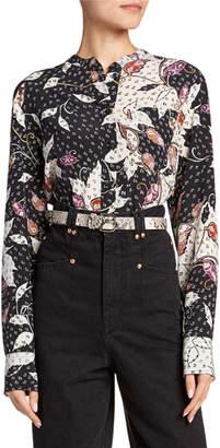 Isabel Marant Rusak Abstract-Print Shirt