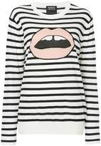 Markus Lupfer striped lips top