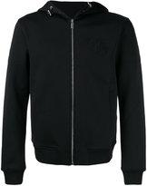 Versace embroidered Medusa logo hoodie - men - Cotton/Polyamide/Spandex/Elastane - M