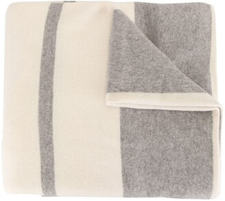 James Perse Cashmere Oversized Striped Scarf