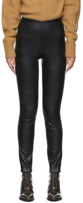 Rag & Bone Black Leather Simone Trousers