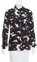 Proenza Schouler Abstract Print Silk Top