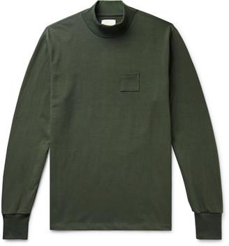 Aimé Leon Dore Melange Cotton-Jersey Mock-Neck T-Shirt