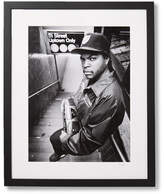 Sonic Editions Framed Ice Cube 51 St Print, 17 X 21 - Black