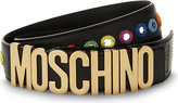Moschino Embellished leather belt