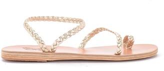 Ancient Greek Sandals Eleftheria Platinum Leather Sandal.