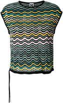 M Missoni embroidered sleeveless top
