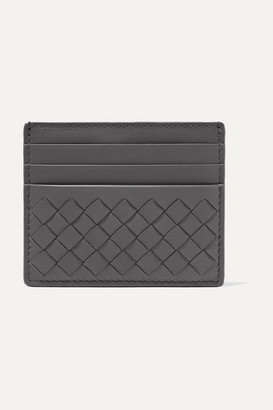 Bottega Veneta Intrecciato Leather Cardholder - Gray