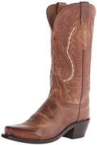 Lucchese Classics Women's Cassidy-Tan Mad Dog Goat Riding Boot