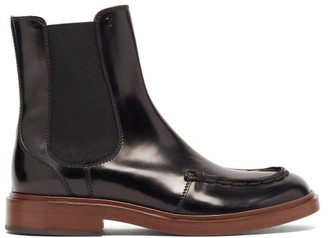 Tod's Patent-leather Chelsea Boots - Black