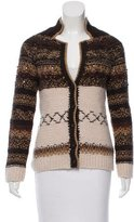 Moschino Cheap & Chic Moschino Cheap and Chic Embellished Alpaca Cardigan