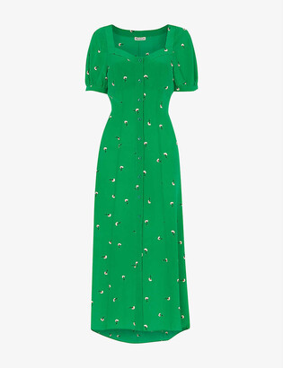 Whistles Floral-print crepe maxi dress