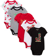 Juicy Couture Cherry Bodysuits - Pack of 5 (Baby Girls)