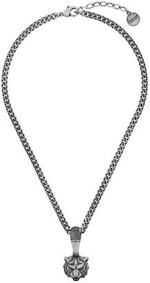 Roberto Cavalli Tiger Head Necklace