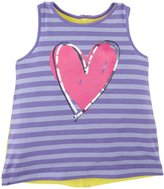 Design History Heart Sequins Tank Top (Toddler/Kid) - Wild Purple-6x