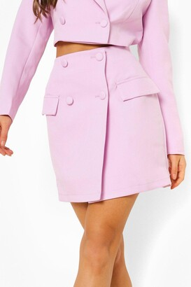 boohoo Mix & Match Wrap Mini Skirt