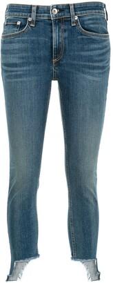 Rag & Bone Asymmetric Skinny Cropped Jeans